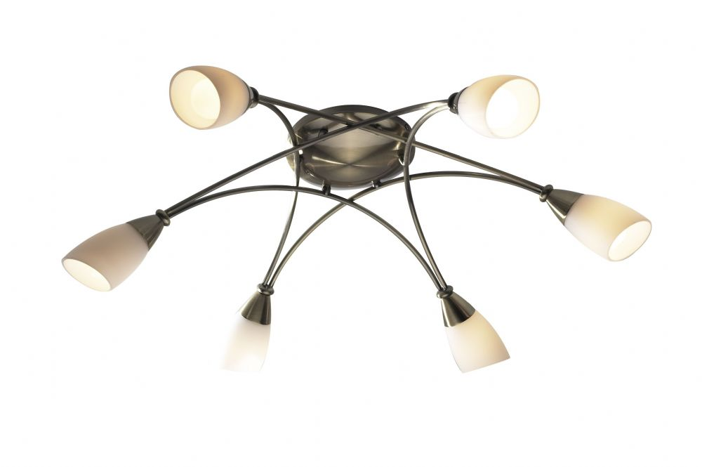 Bureau 6-light Antique Brass Ceiling Light (823562) BUR0675